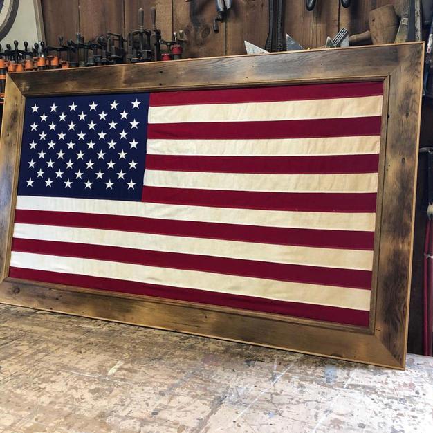 Custom Framed American Flag