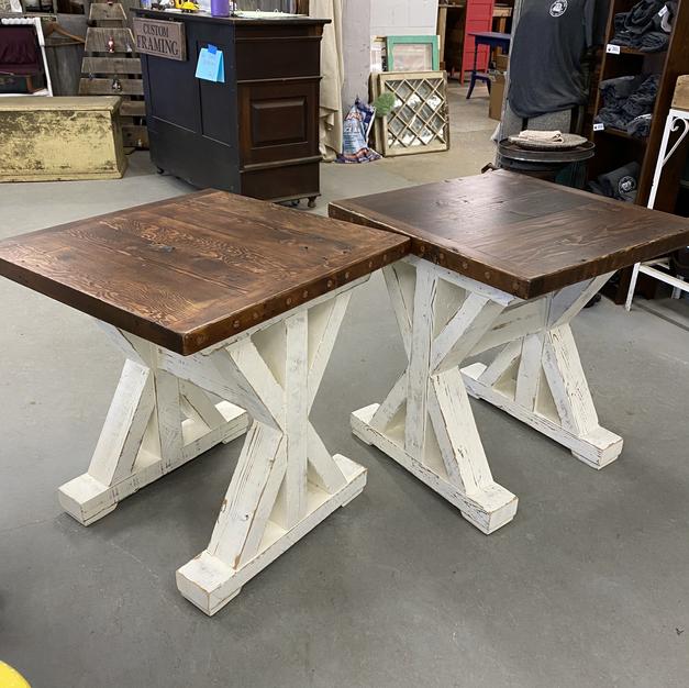 Custom Reclaimed End Tables