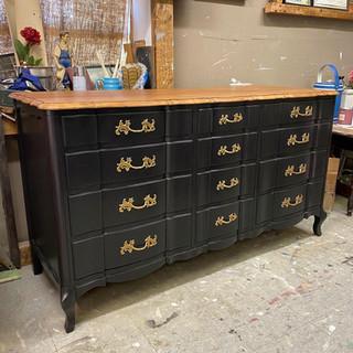 Two-Toned Dresser Refinishing