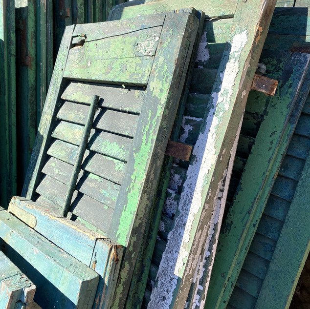 Locally Salvaged Shutters