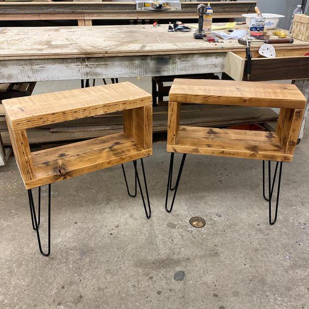 Custom Reclaimed Side Tables