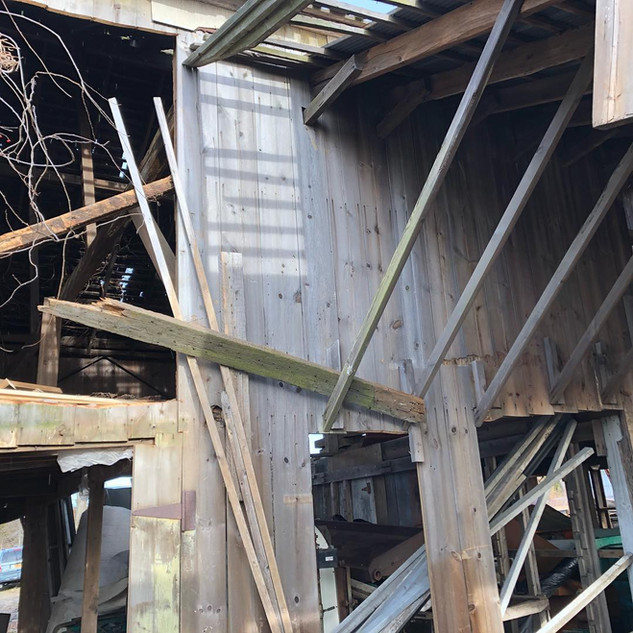Inside the Barn Dismantle