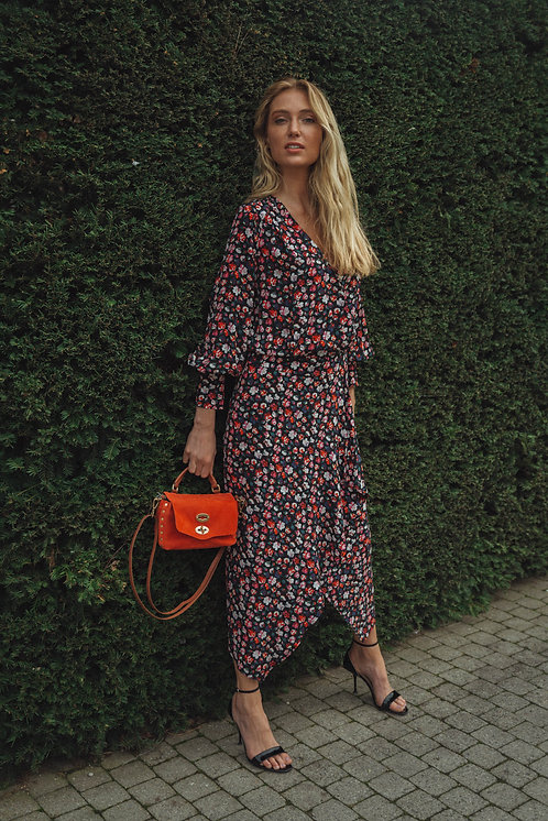 Long dress multicolor print