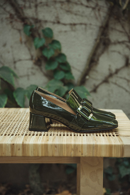 Sergio Rossi loafers lacquer green