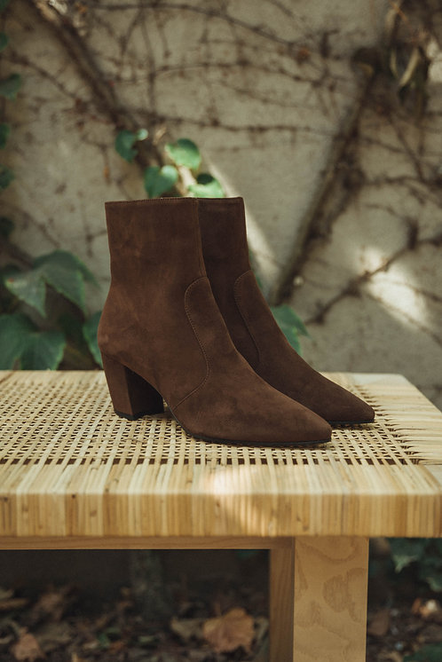 Prada ankle boots suede brown