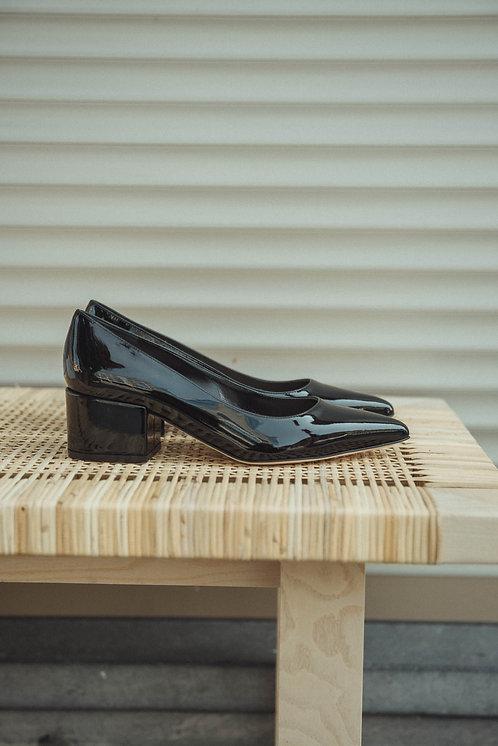 Sergio Rossi heels lacquer black
