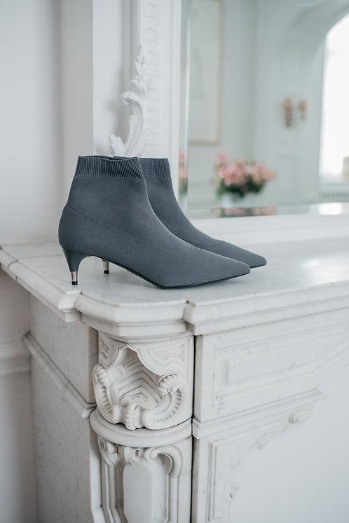 Prada ankle boots kitten heels - grey stretch