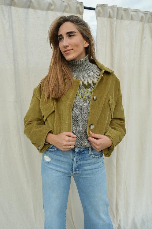 Short green jacket