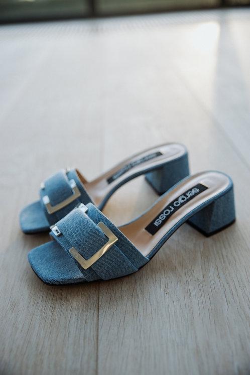 Sergio Rossi denim slippers