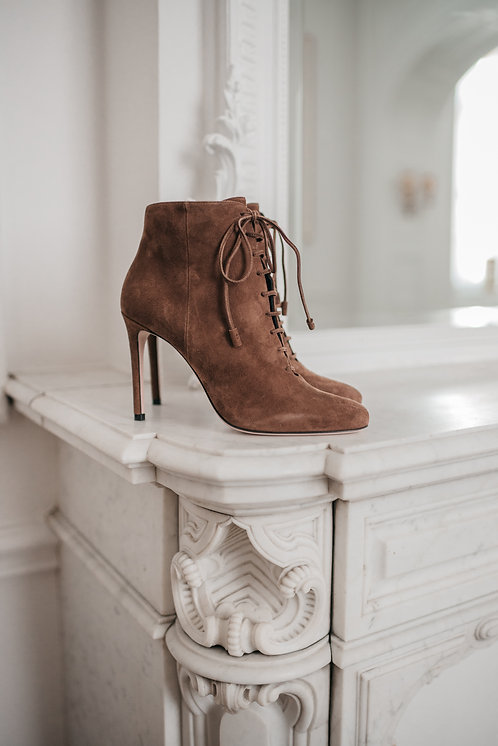 Prada ankle boots - brown suede