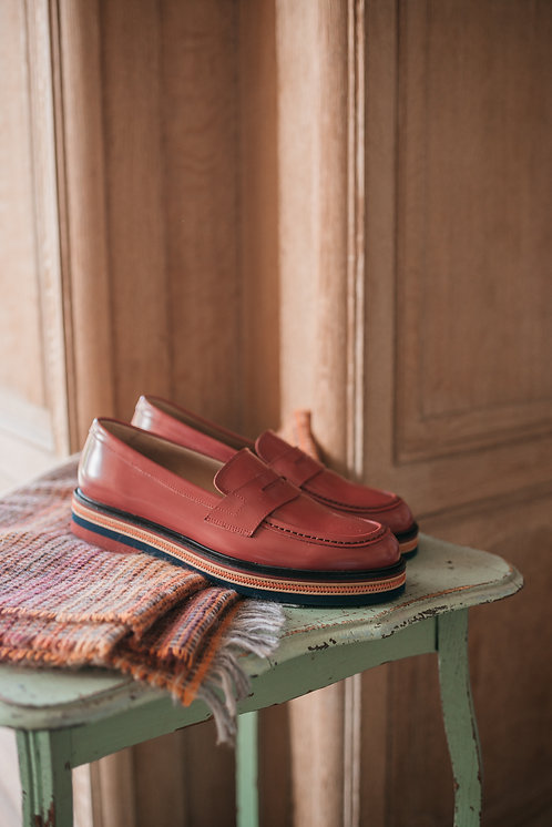 Fratelli Rossetti loafer- red