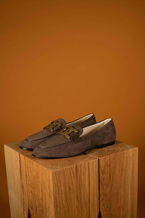 Tod's loafer bruin suede