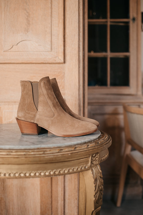 Tod's ankle boots - camel daim