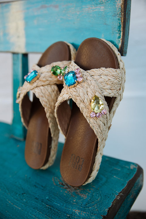 Slippers strass
