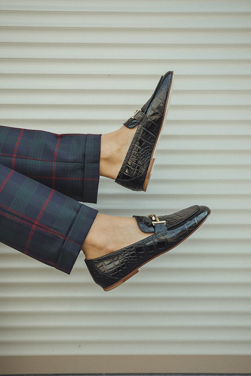 Tod's loafer croco black