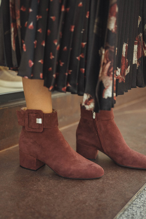 Sergio Rossi boots suede bordeaux