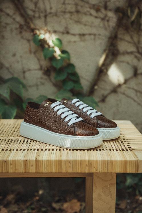 Prada sneakers croco brown