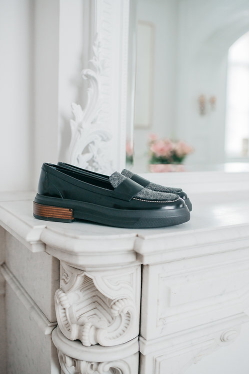 Tod's loafers - black/grey