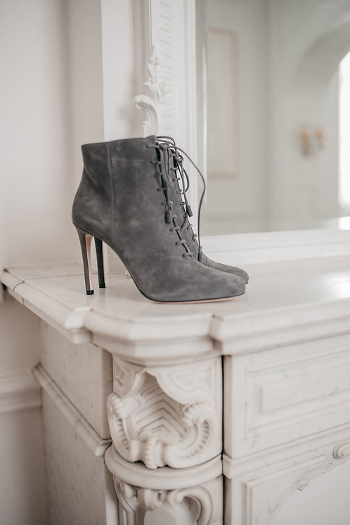 Prada ankle boots - grey suede