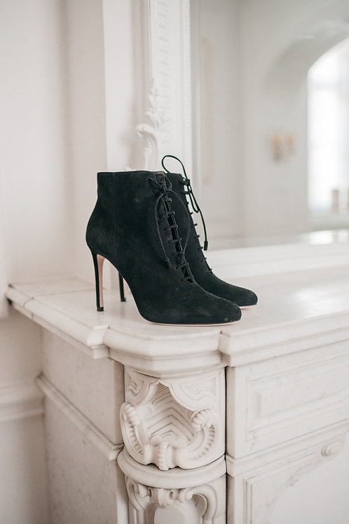 Prada ankle boots - black suede