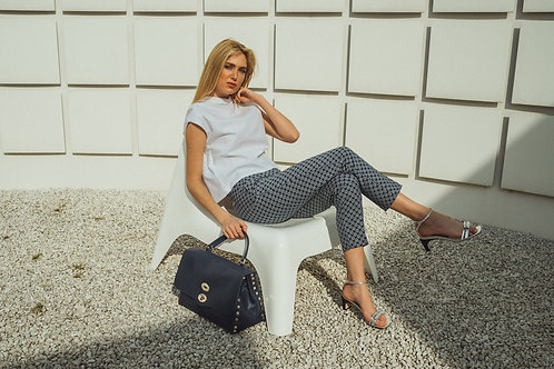 Print trousers + cotton top