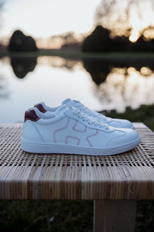 Hogan H327 sneakers wit/bordeaux