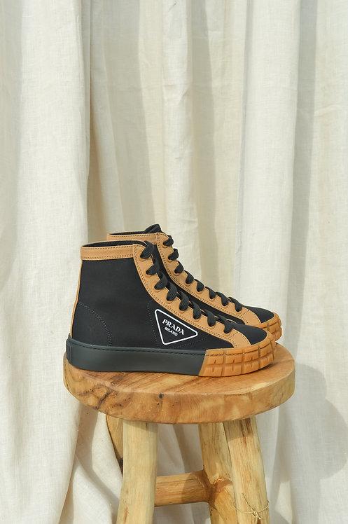 Prada  high-top sneakers black/camel