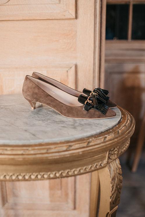 Tod's kitten heels - beige suede