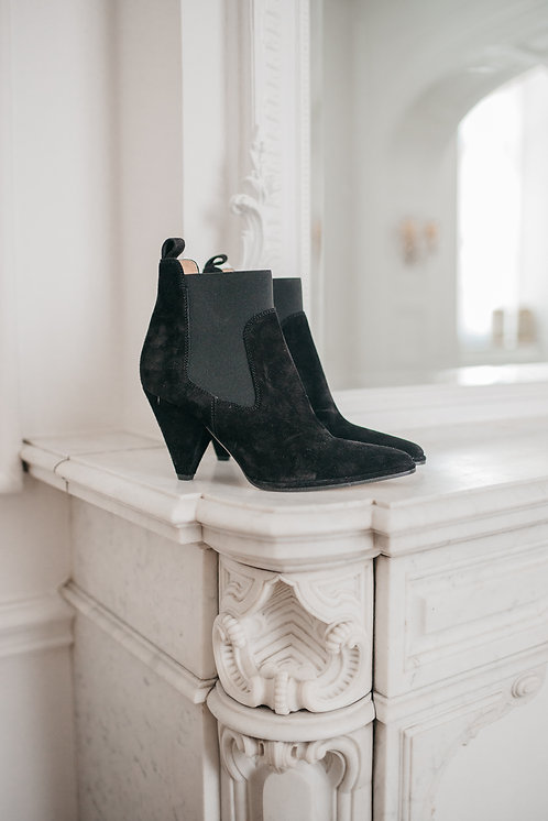 Sergio Rossi ankle boots - black suede