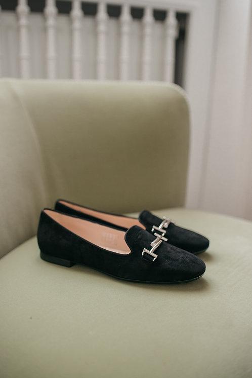 Tod's loafer - black suede