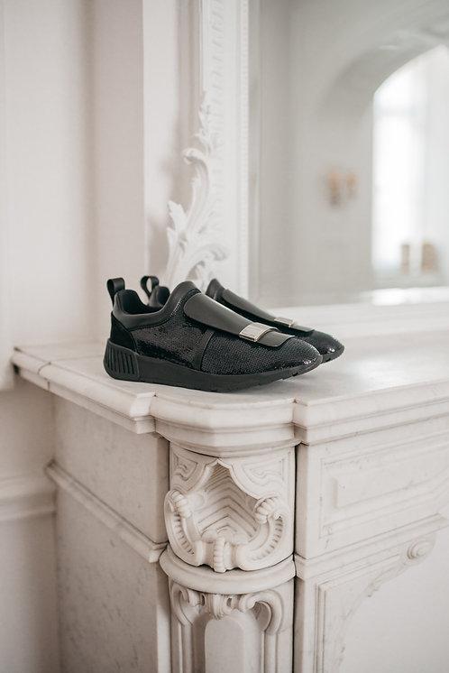 Sr1 sneakers - black sequin