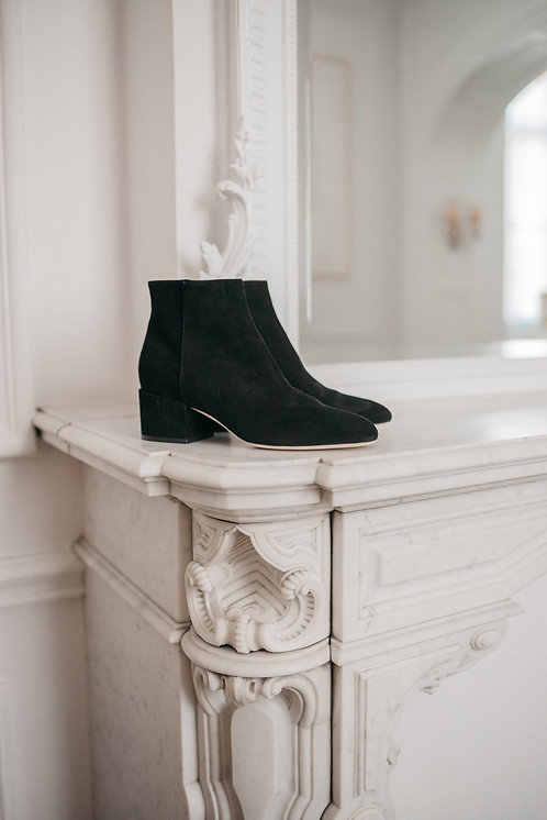Sergio Rossi ankle boots - black daim