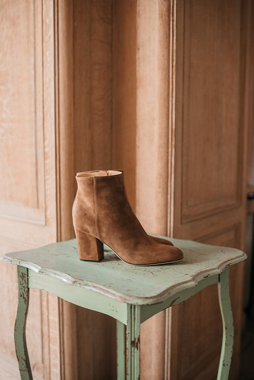 Sergio Rossi ankle boots - camel daim