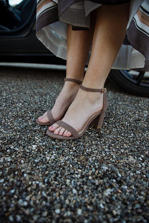Stuart Weitzman taupe sandaal
