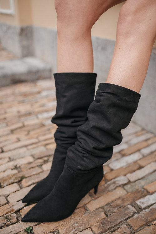 Prada long boots - black suede