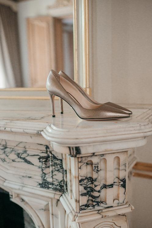 Prada heels - bronze