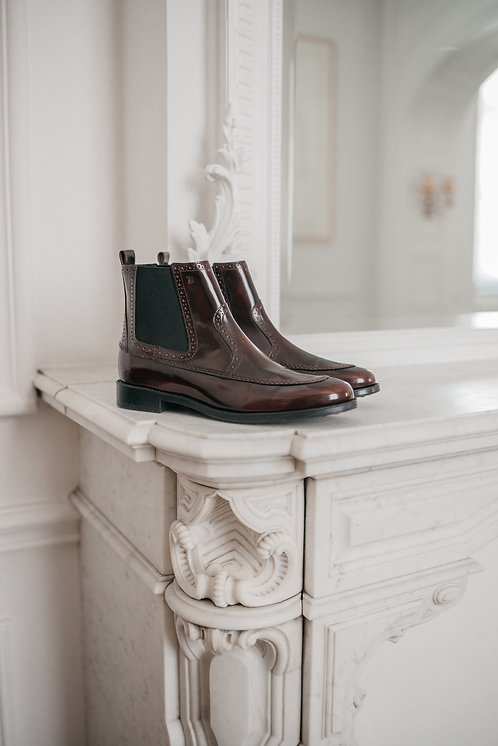 Tod's ankle boots - bordeaux leather