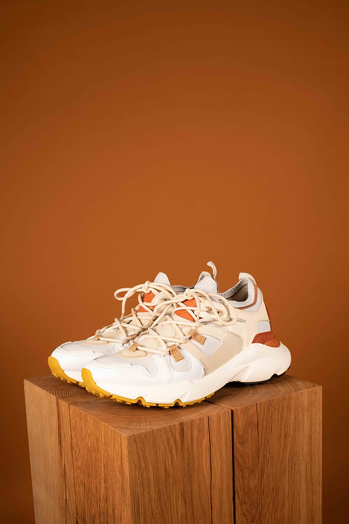 Tods sneakers wit/camel
