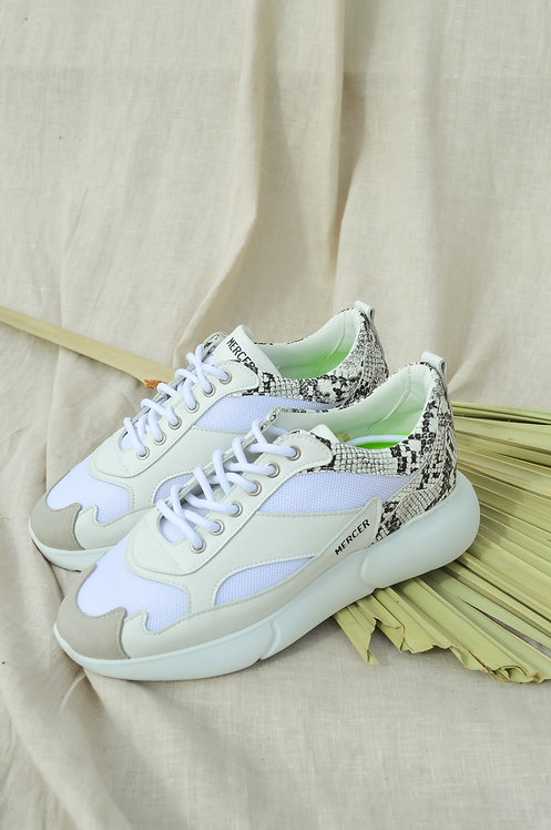 Mercer python sneaker