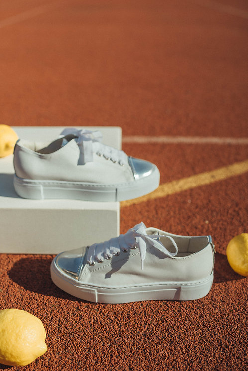 AGL sneakers white/silver