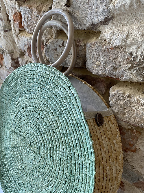Shopper rond turquoise