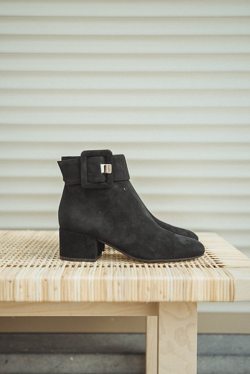 Sergio Rossi ankle boots suede black