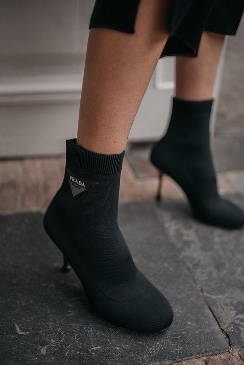 Prada ankle boots - black stretch