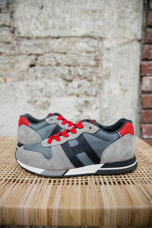 Hogan H383 sneakers taupe/rood