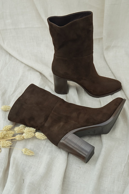 Prada suede brown boots