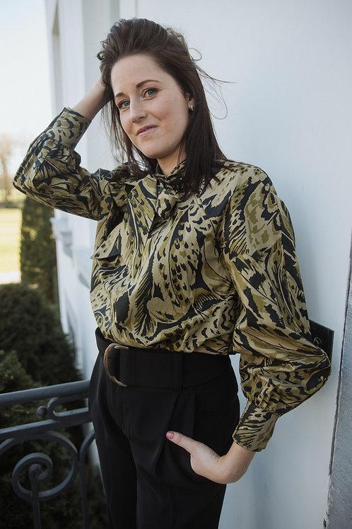 Kaki blouse print