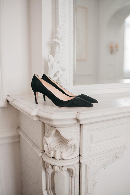 Prada heels - black suede