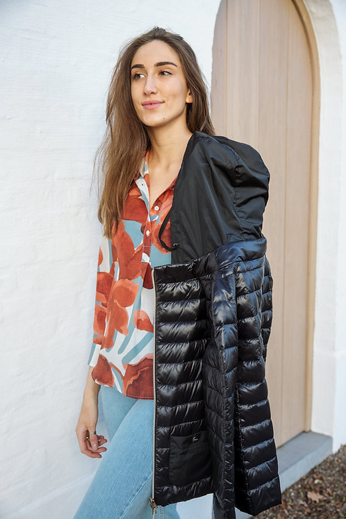Herno zwarte gewatteerde jas