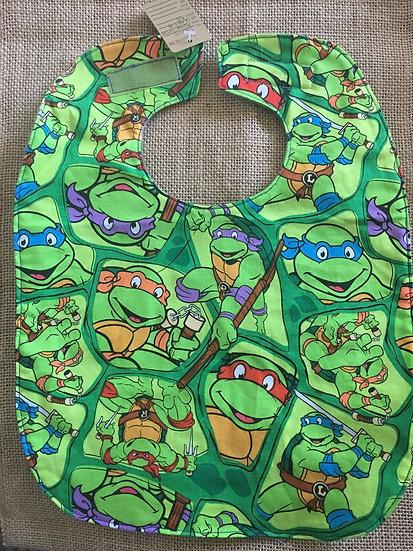 Ninja Turtles Fleece Backed Bib