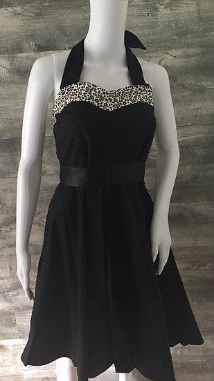 Leopard Print Sweetheart Swing Dress